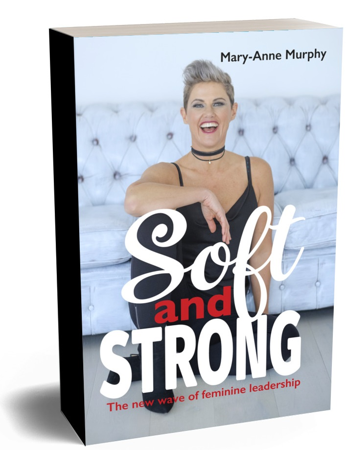 Mary-Anne Murphy with words Soft and Strong. Book cover