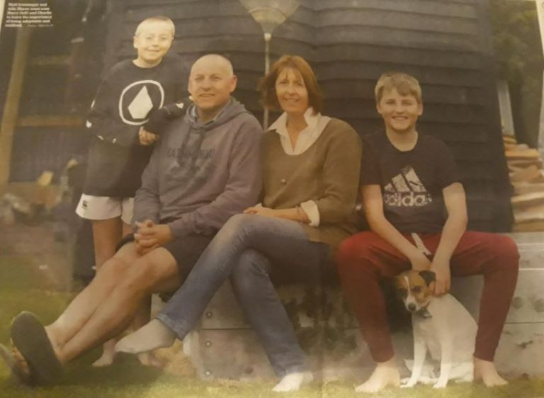 Family photo, linking to We get knocked down, but it's how we get up again that counts, blog post