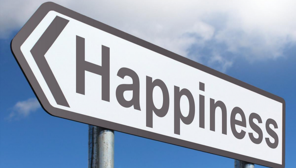Happiness Sign for blog about Deliberate acts of leadership to raise organisational happiness and outcomes.
