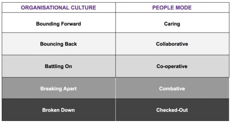 Culture of Care Table_Where is your organisation sitting